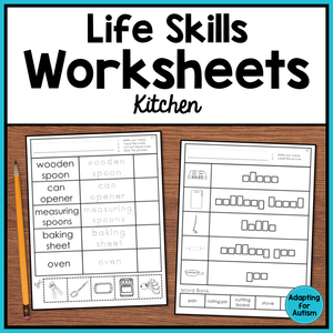 Life Skills Worksheets - Kitchen Vocabulary