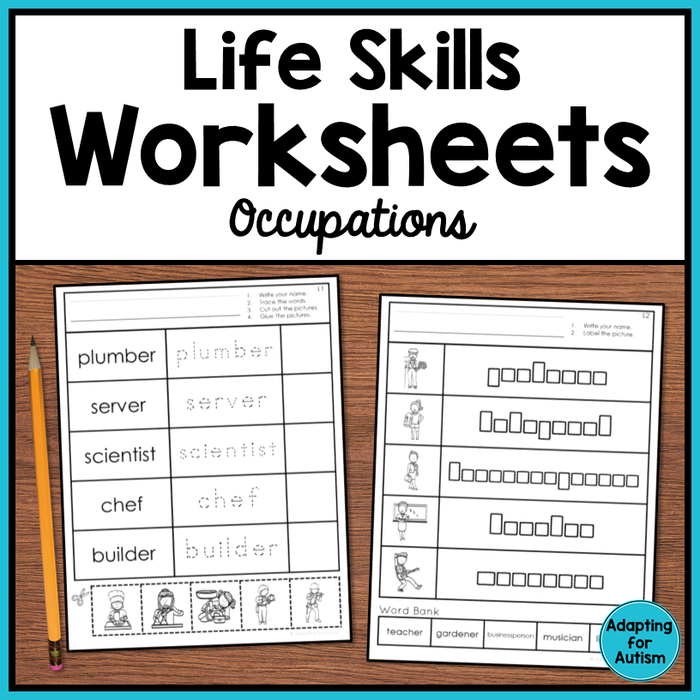 Life Skills Worksheets - Occupations Vocabulary