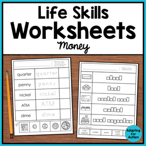 Life Skills Worksheets - Money Vocabulary