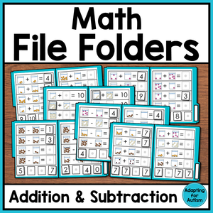 Math File Folders for Addition and Subtraction