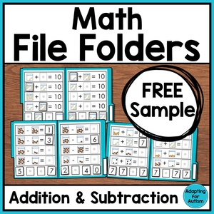 Math File Folders - FREE SAMPLE