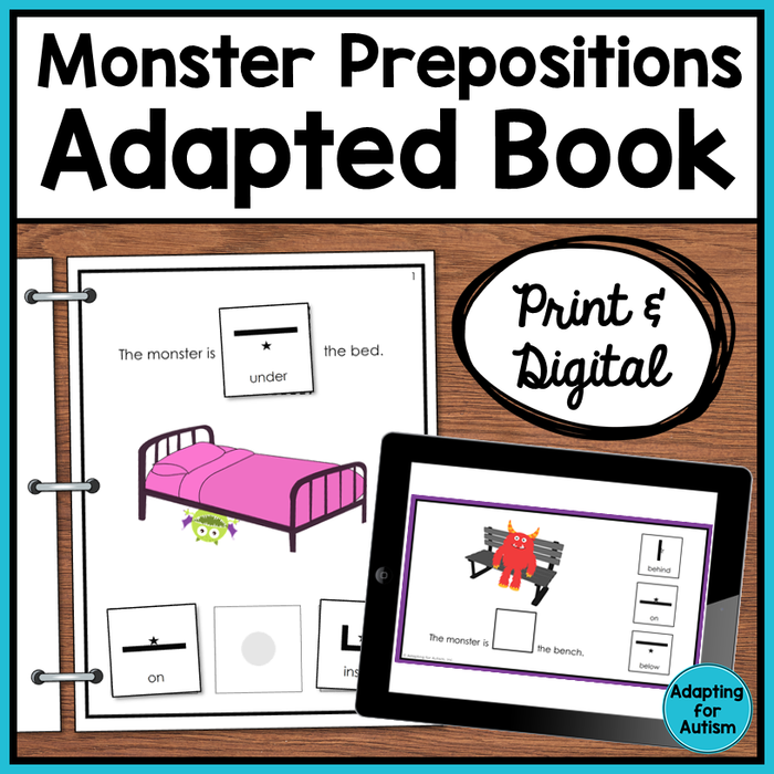 Prepositions Adapted Book: Where is the Monster? (Print and Digital)