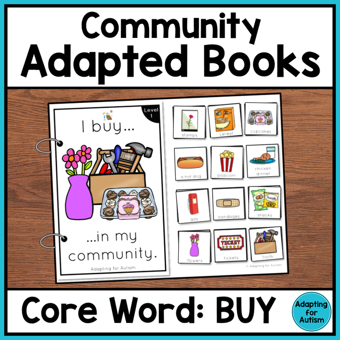Community Core Word Adapted Book (I Buy)