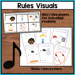 Music Visual Supports and Schedules