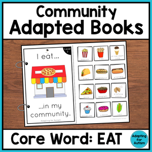 Community Core Word Adapted Book (I Eat)