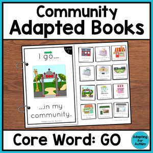 Community Core Word Adapted Book (I Go)