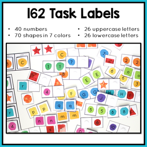 Task Box Labels for Independent Work Stations