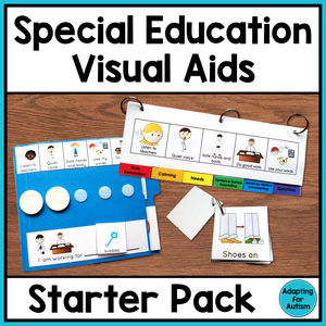 Special Education and Autism Visual Aids: Classroom Starter Pack