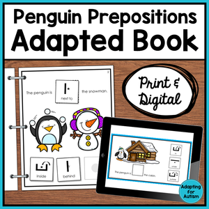 Winter Adapted Book of Prepositions (Print and Digital)
