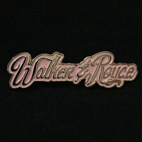 Walker & Royce Logo Pin (Pretty in Pink)
