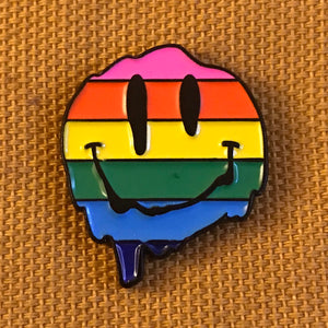 Face Melter (Rainbow) Pin
