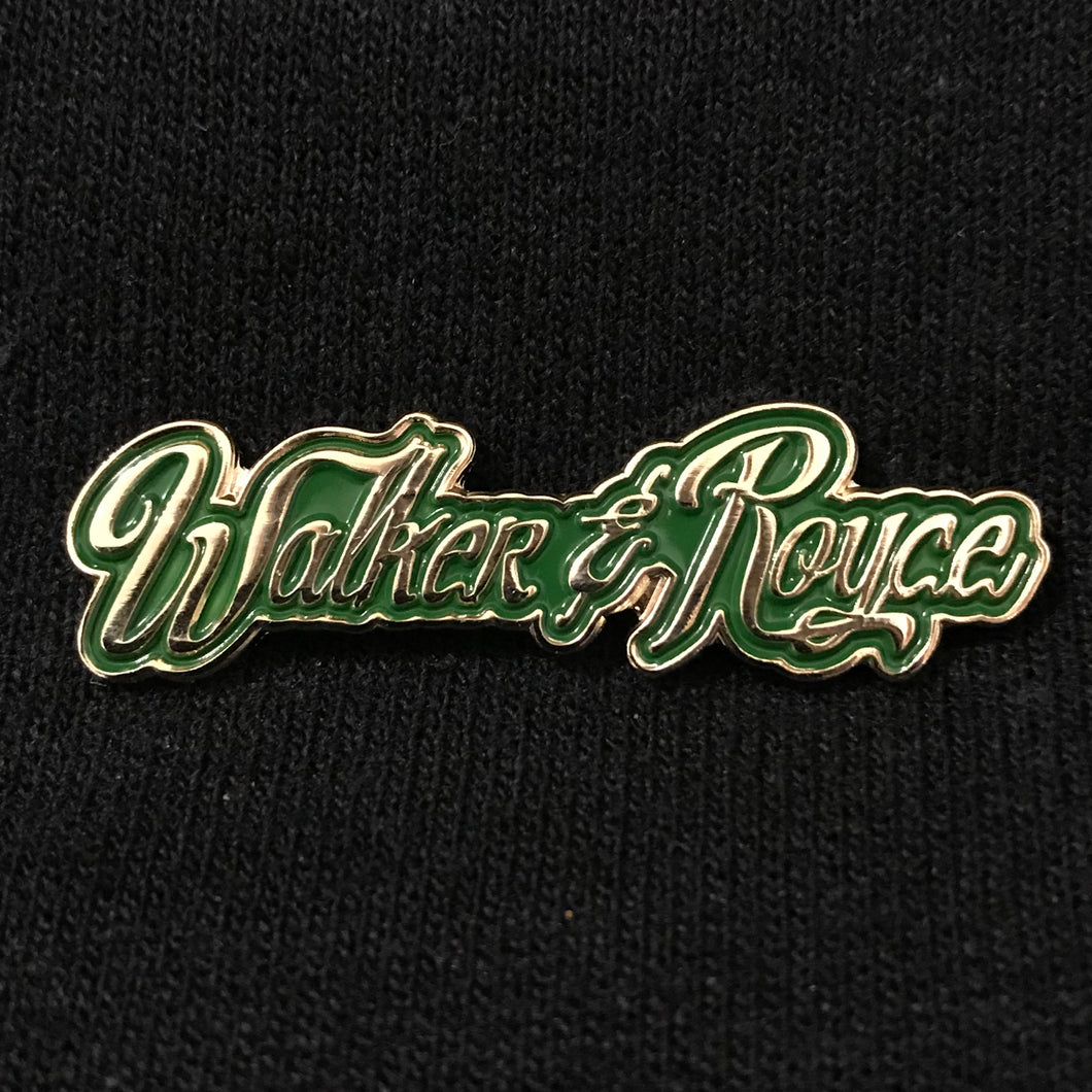 Walker & Royce Logo Pin (Hulk Green)