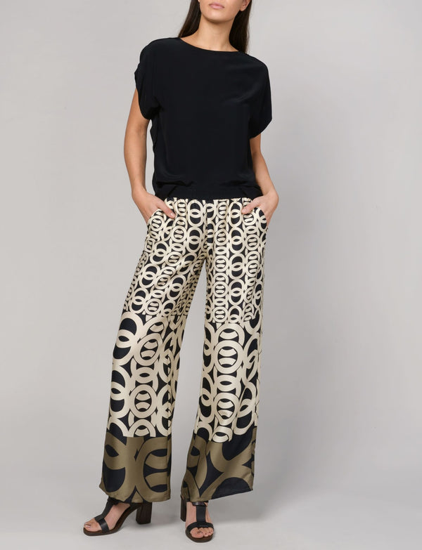 Summum Woman - Trousers Border Print