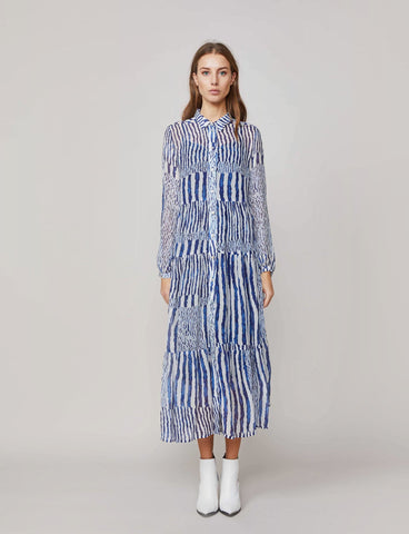 Summum Woman -  Dress waves print