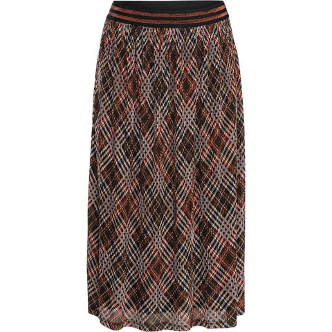 Summum Woman - Skirt Check Print Mesh