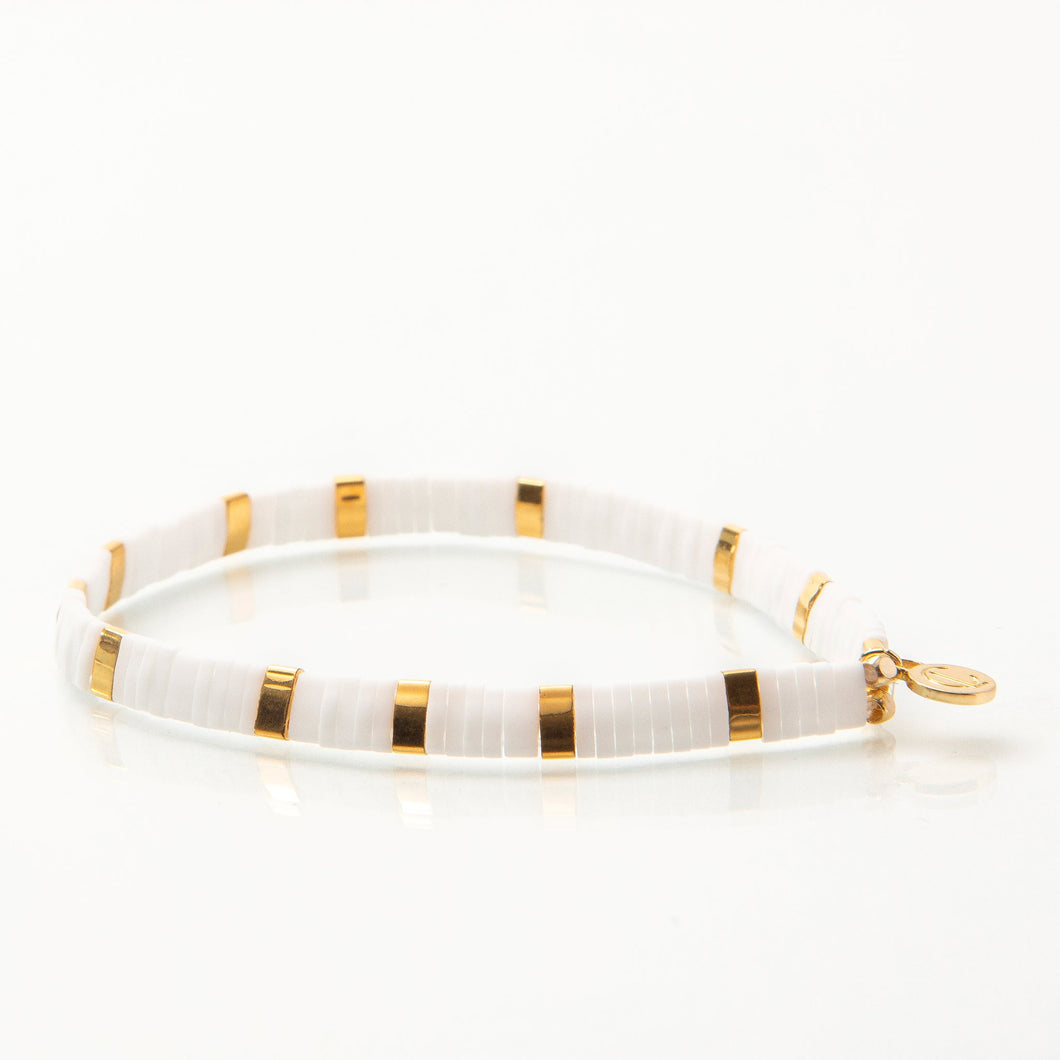 Supernova Bracelet- White/Gold
