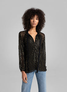 Winona Top- Black/Gold