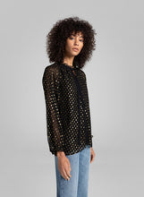 Load image into Gallery viewer, Winona Top- Black/Gold