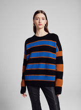 Load image into Gallery viewer, Roman Sweater- Cobalt/Caramel/Black