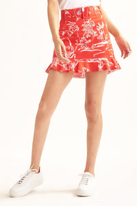 Lizette Skirt- Red