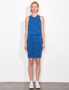 Stars Sleeveless Dress- Dusty Indigo