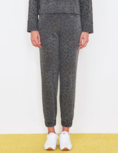 Load image into Gallery viewer, Leopard Cuff Sweatpants- Pigment Smoke