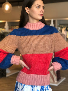 Knitted Pullover- Multi Stripe
