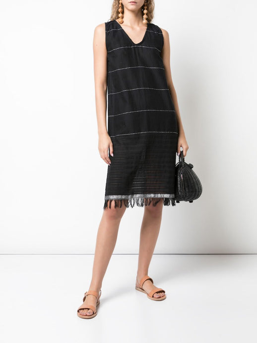 Tikuri V Neck Dress- Black