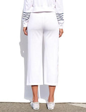 Load image into Gallery viewer, Flare Trim Sweats- White