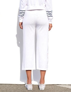 Flare Trim Sweats- White