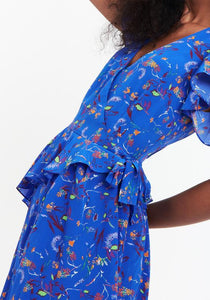 Madelena Dress- Blue Floral