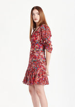 Load image into Gallery viewer, Pansy Dress- Red Leopard