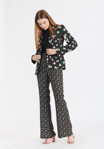Reese Pant- Black Brushed Floral
