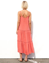 Load image into Gallery viewer, Tiered Maxi Dress- Mandarin