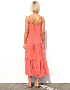 Tiered Maxi Dress- Mandarin
