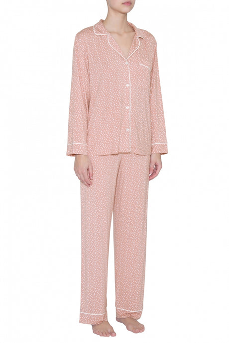 Sleep Chic Long PJ Set- Misty Rose