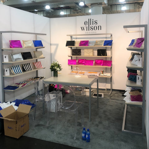 Ellis Wilson Designs handbags made in usa leather accessories Javits Center Accessorie Circuit NYC