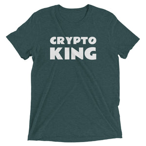 Crypto King Short Sleeve Tri-Blend T-Shirt