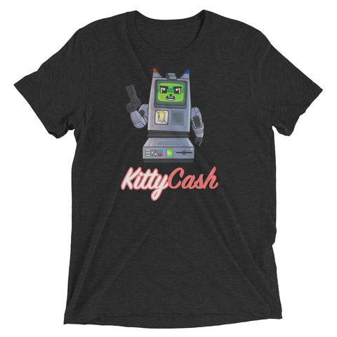 Kitty Cash Robot Tri-Blend Short Sleeve T-Shirt