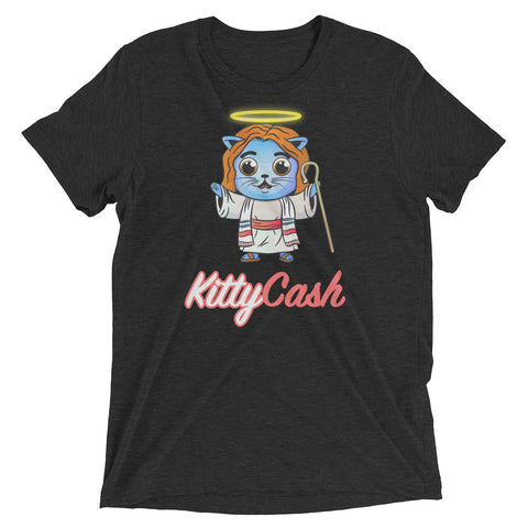 Kitty Cash Jesus Tri-Blend Short Sleeve T-Shirt