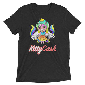 Kitty Cash Unicorn Tri-Blend Short Sleeve T-Shirt