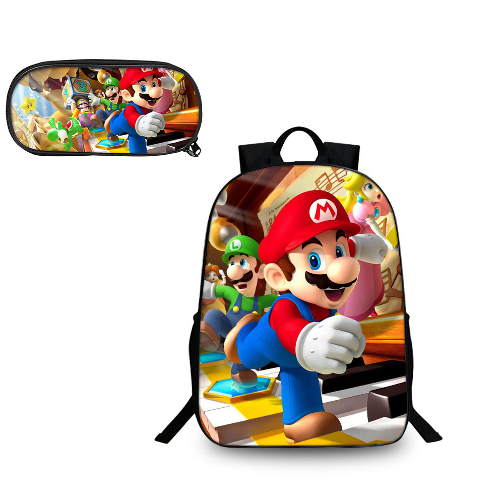 Super Mario Odyssey Run Backpack & Pencil Case Back to School Set 2in1