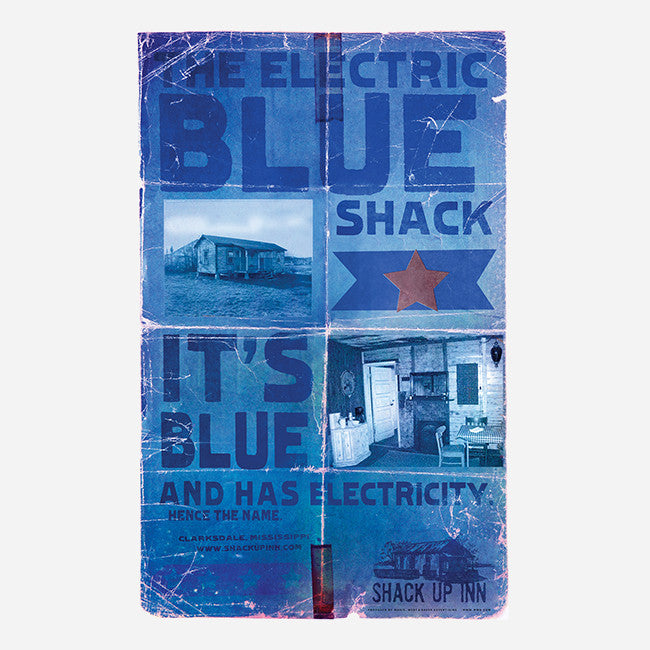 "Electric Blue 18""x 28"" Poster"