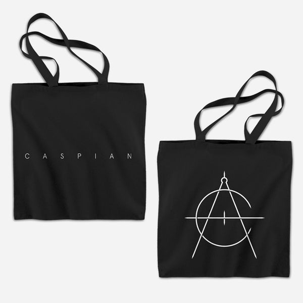 Icon Black Tote Bag by Caspian for sale on hellomerch.com