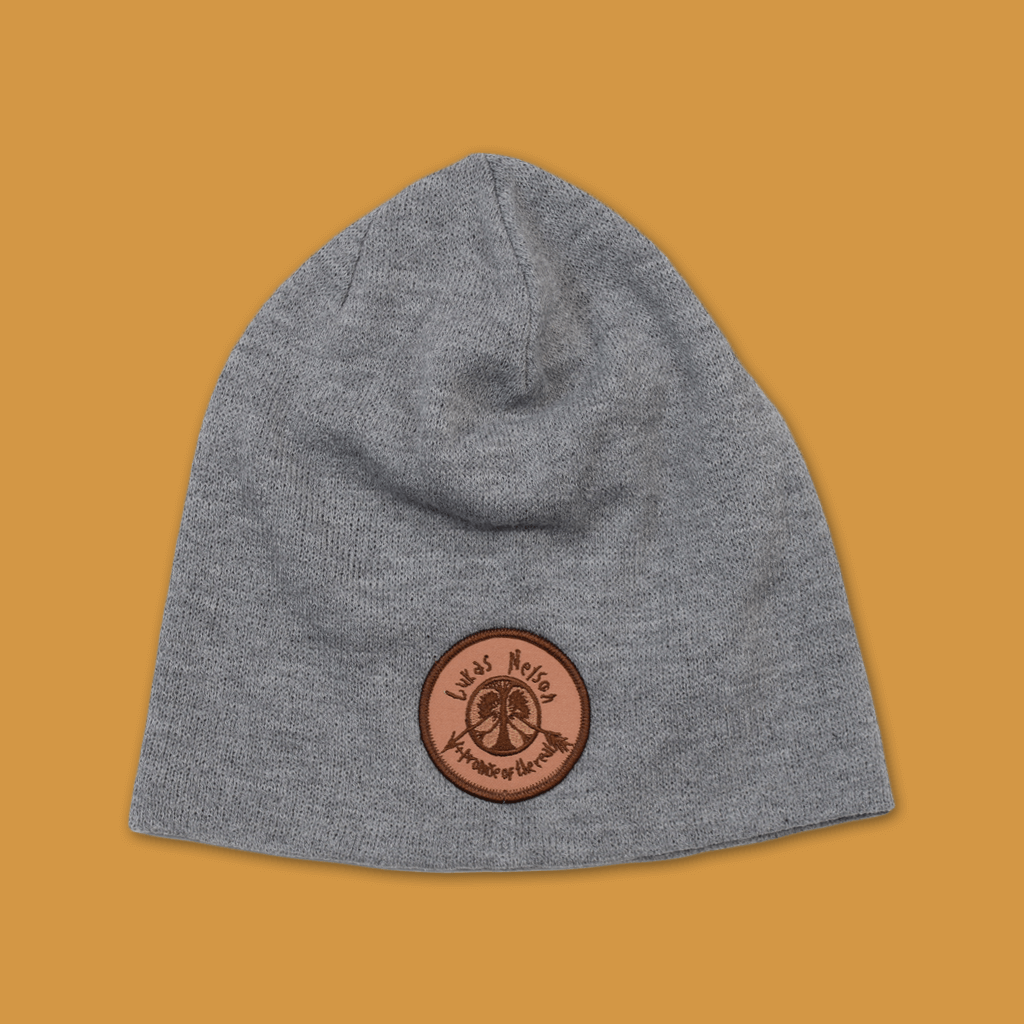 Broken Arrow Heather Grey Slouch Beanie