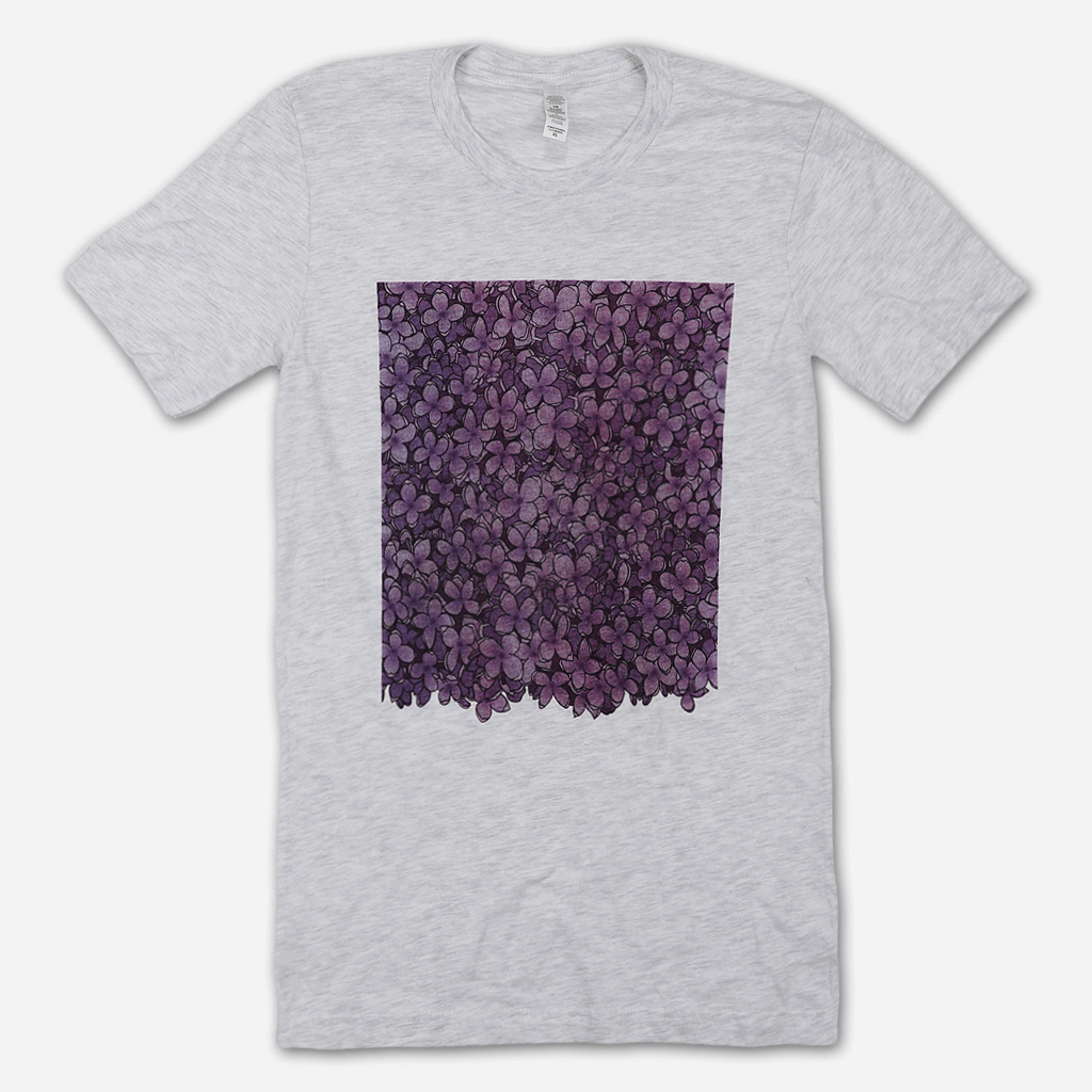 Lilac Heather Grey T-Shirt - Mitski - Hello Merch