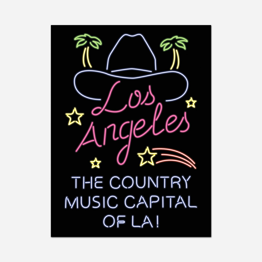 Los Angeles Poster - Sam Outlaw - Hello Merch