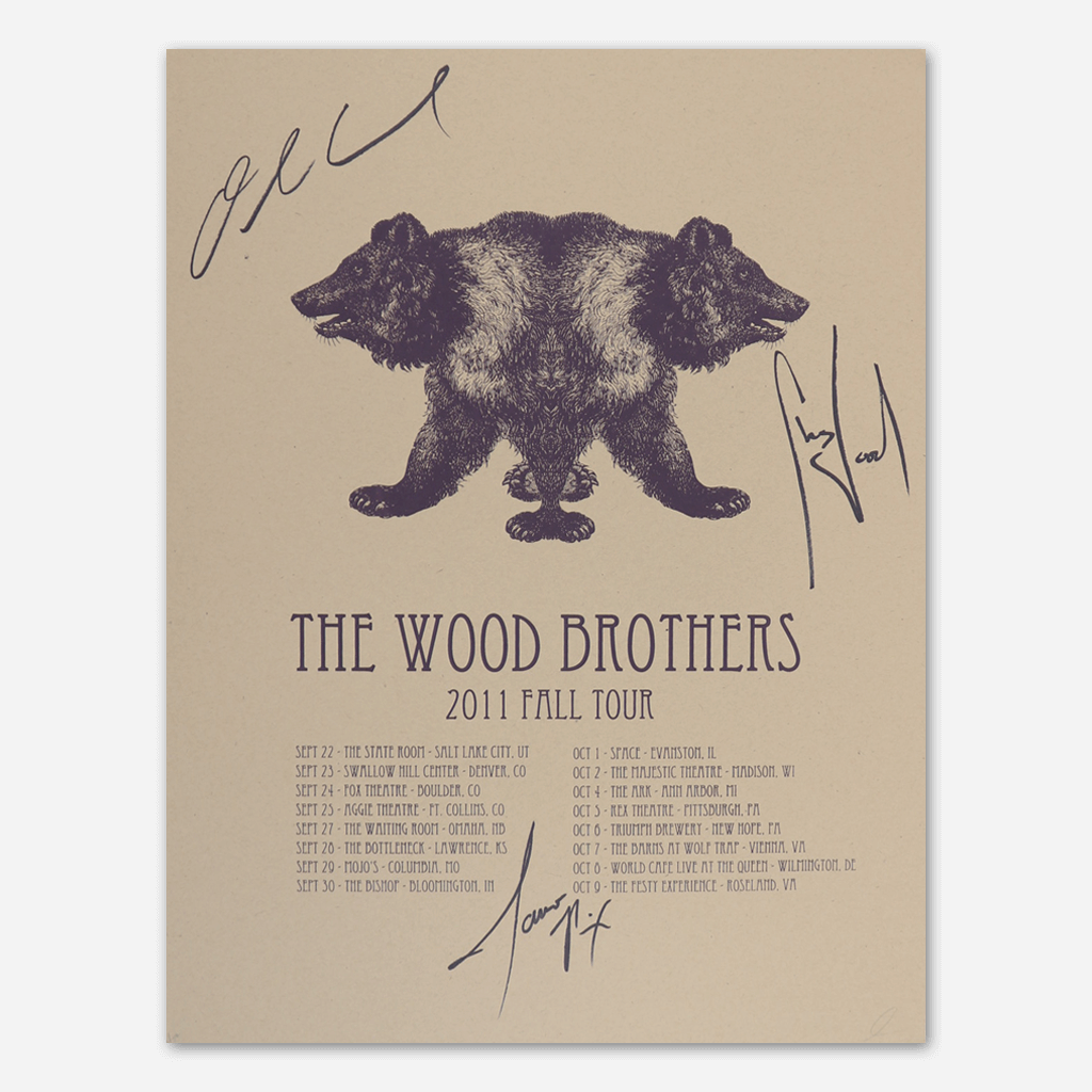 2011 Fall Tour Signed Poster