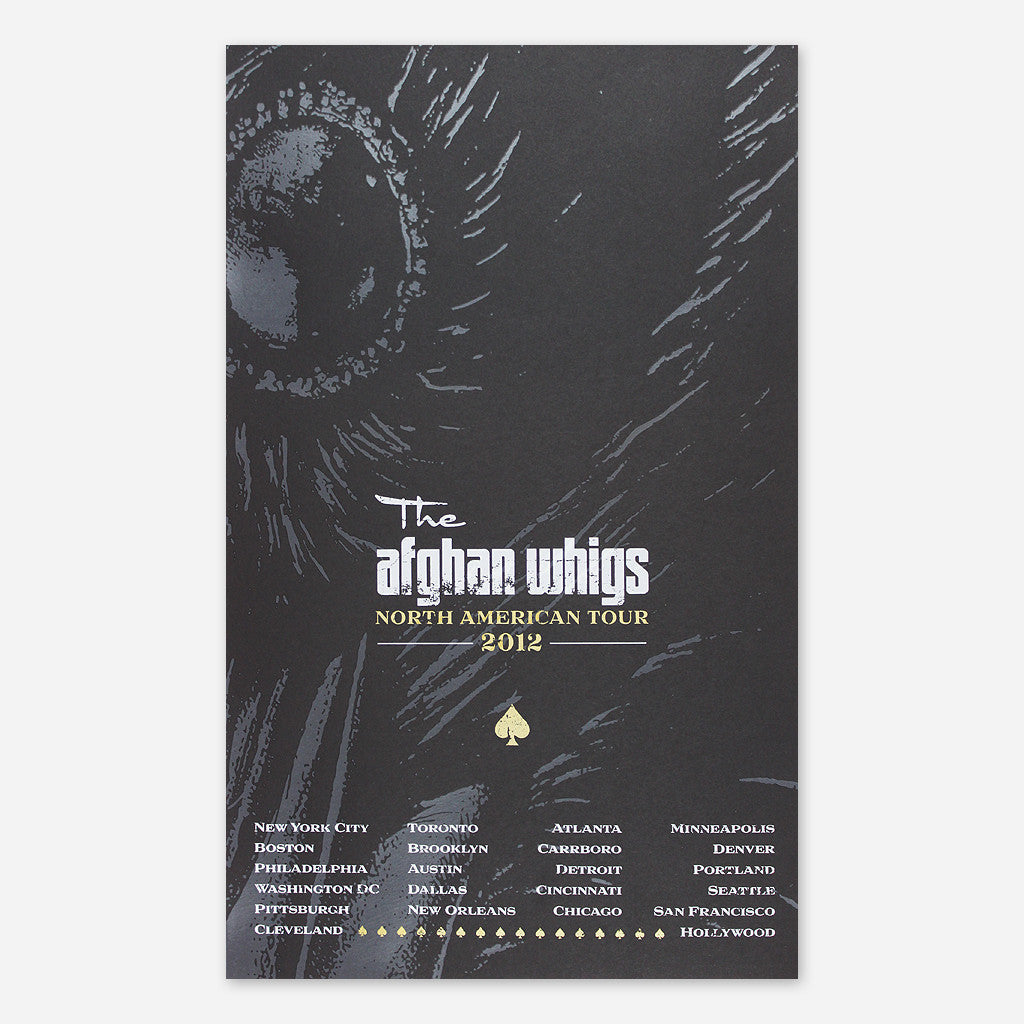 Afghan Whigs - 2012 North American Tour Poster - Greg Dulli - Hello Merch