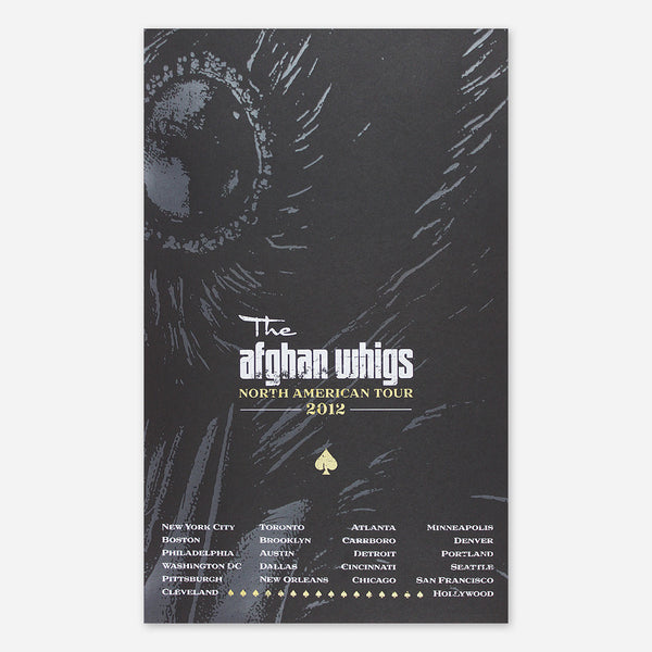 Afghan Whigs - 2012 North American Tour Poster by Greg Dulli for sale on hellomerch.com